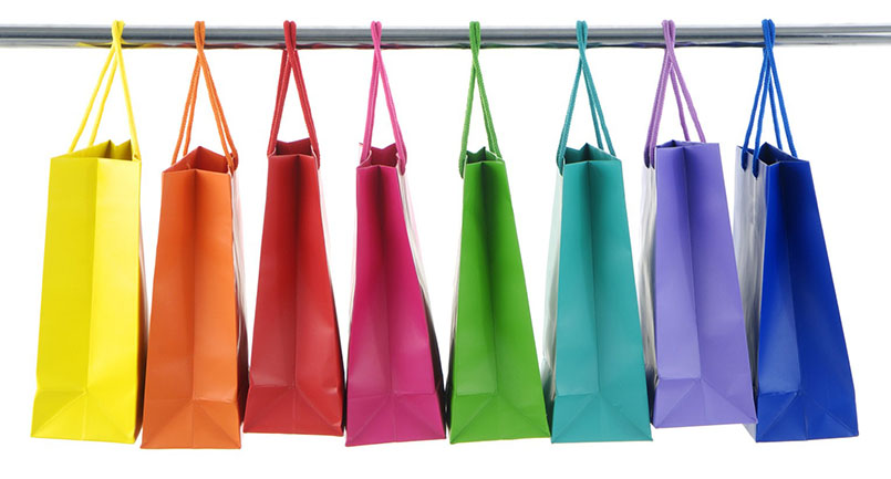 how to save colorful shopping bags